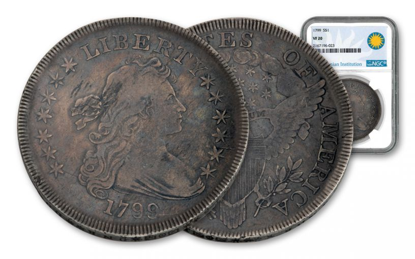 1799 Draped Bust Silver Dollar NGC VF20