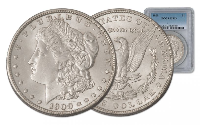 1900-P Morgan Silver Dollar PCGS MS63