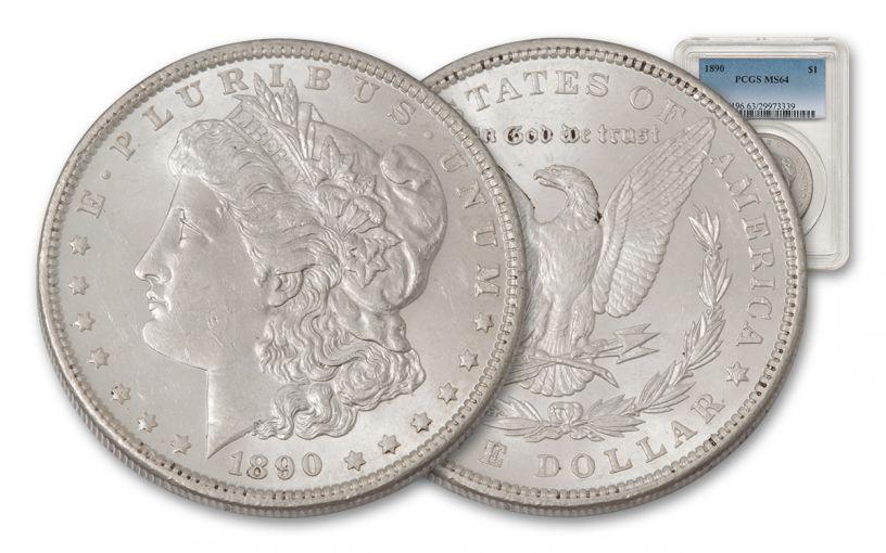 1890-P Morgan Silver Dollar PCGS MS64