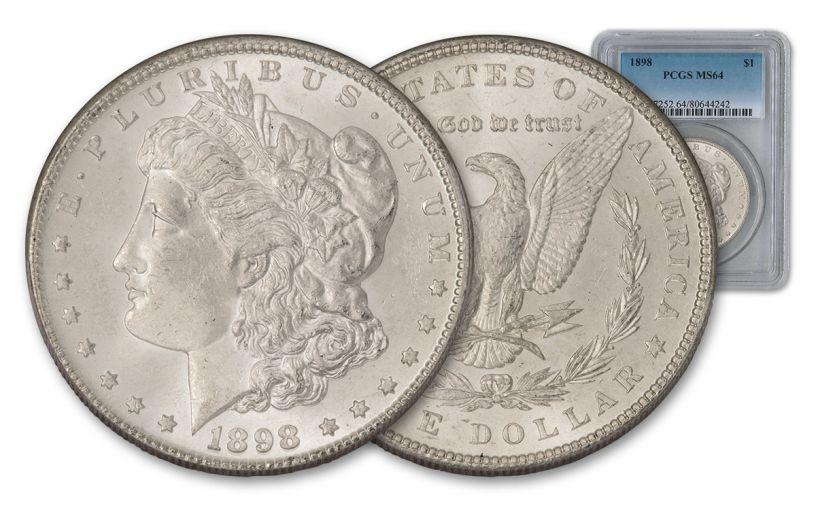 1898-P Morgan Silver Dollar PCGS MS64