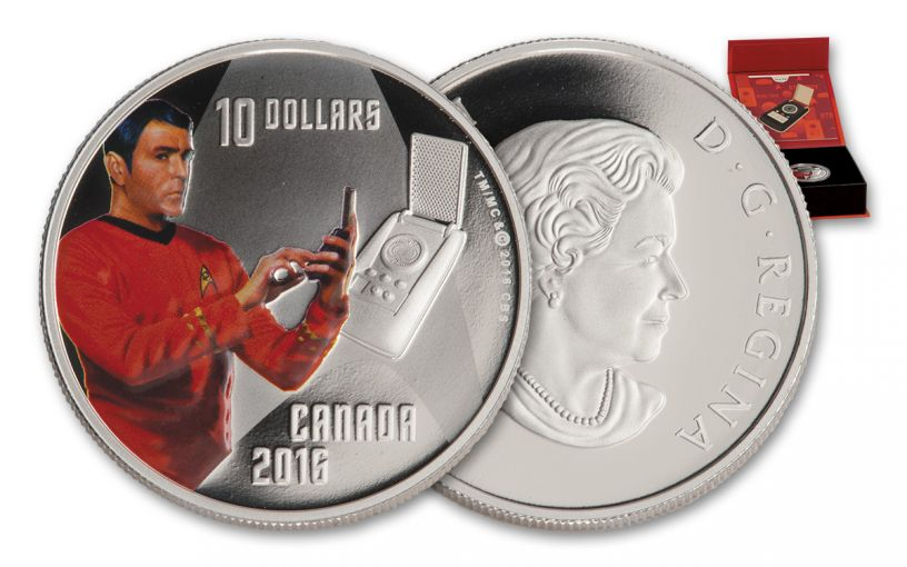 2016 Canada 10 Dollar Silver Star Trek Scotty Proof