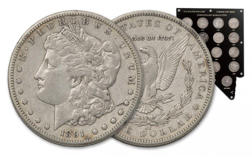 1878-1893-CC Morgan Silver Dollar 14-Piece Set