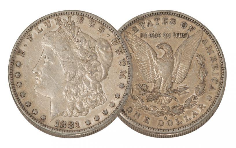 1881-S Morgan Silver Dollar XF