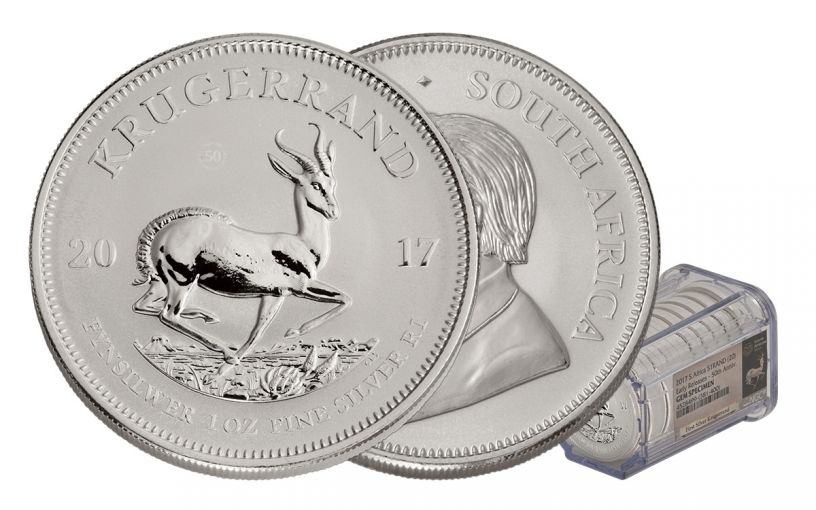 2017 South Africa Silver Krugerrand NGC Gem Early Release 20-Coin Roll