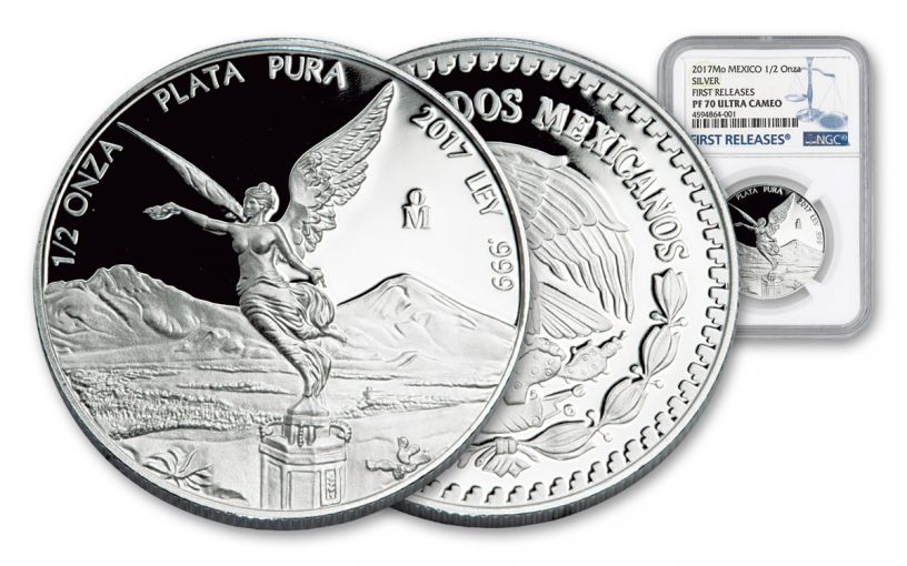 2017 Mexico 1/2-oz Silver Libertad NGC PF70UCAM First Releases