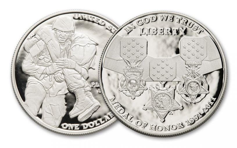 2011-P $1 Silver Medal of Honor Commemorative Proof