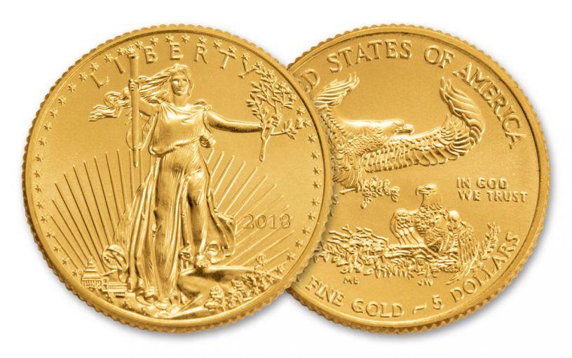 2018 5 Dollar 1/10-oz Gold Eagle BU