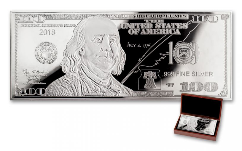 2018 100 Dollar 1-oz Silver Currency Proof