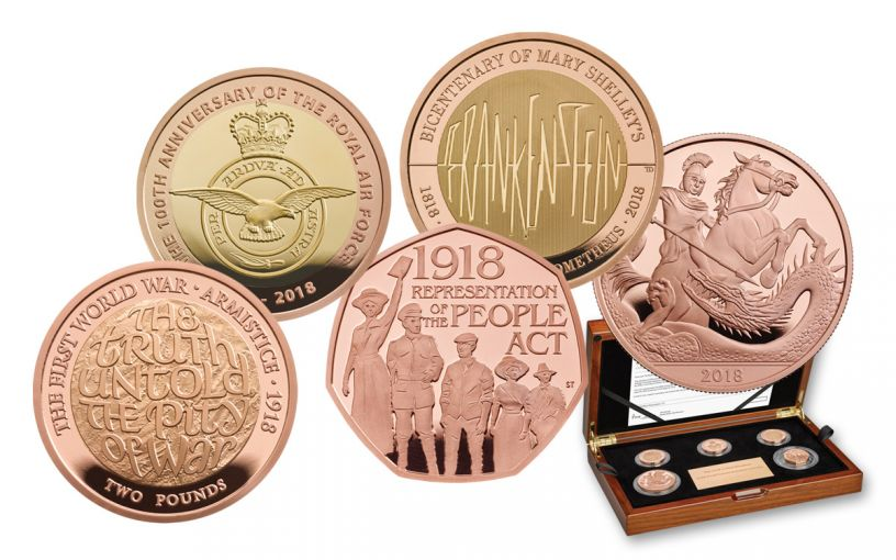 2018 Great Britain Gold Annual Proof Set 5pc
