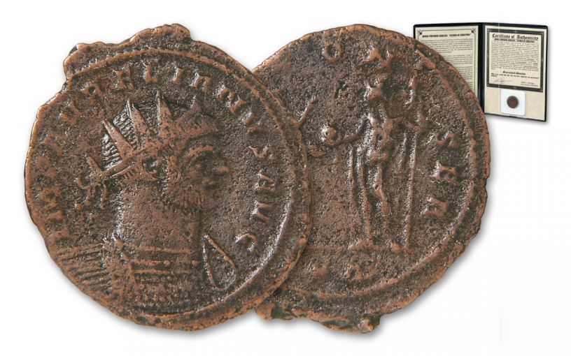 270-275 AD Roman Empire Aurelianianus of Aurelian Father of Christmas Billon Coin