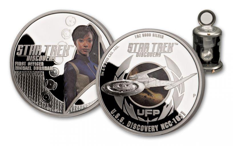 2018 Tuvalu Silver Star Trek Discovery Proof Set 2-pc