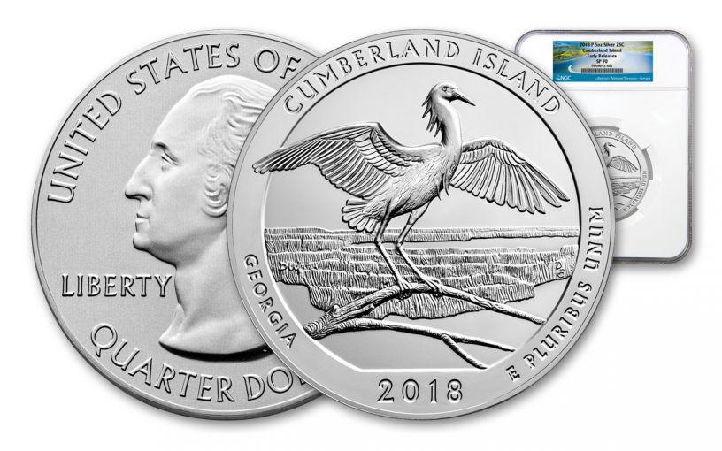 2018-P Cumberland Island National Seashore 5-oz Silver America the Beautiful NGC SP70 ER