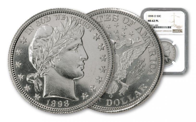 1898-O Barber Half Dollar NGC MS62 PL