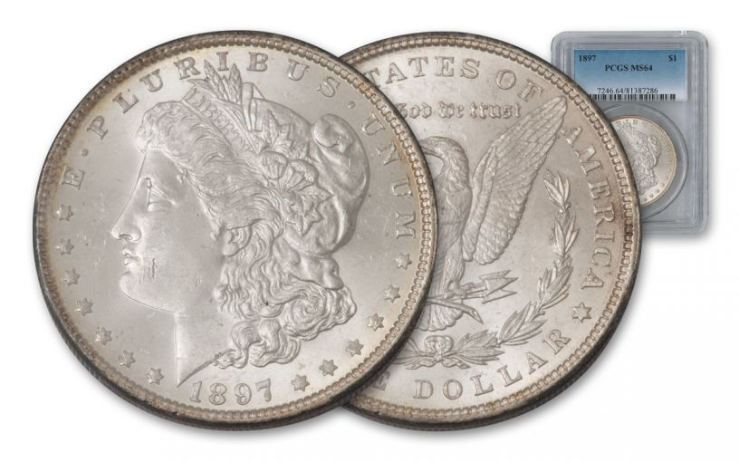 1897-P Morgan Silver Dollar NGC/PCGS MS64