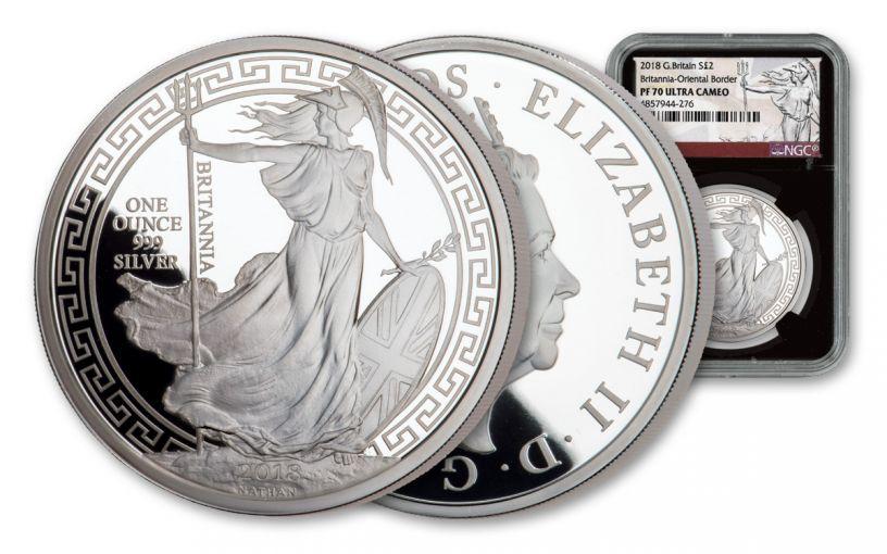2018 Great Britain One-Ounce Silver Oriental Britannia NGC PF70UC