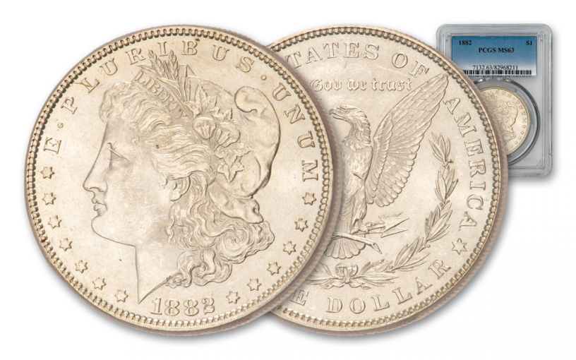 1882-P Morgan Silver Dollar PCGS/NGC MS63