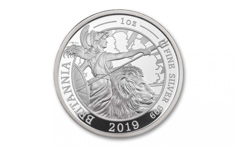 2019 Great Britain £2 1-oz Silver Britannia Proof