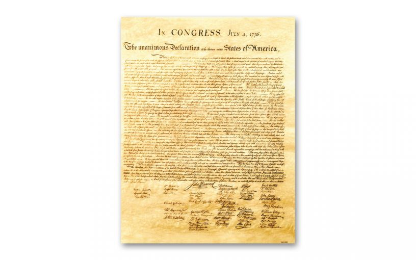 """Declaration of Independence 8½"""" x 11"""" Commemorative"""