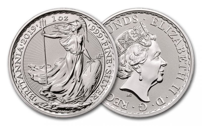 2019 Great Britain £2 1-oz Silver Britannia Uncirculated