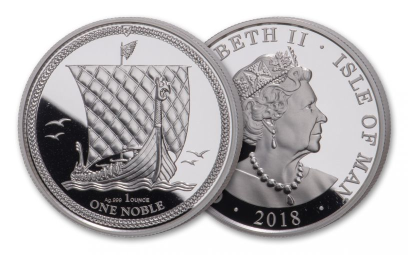 2018 Isle of Man 1-oz Silver Noble Proof