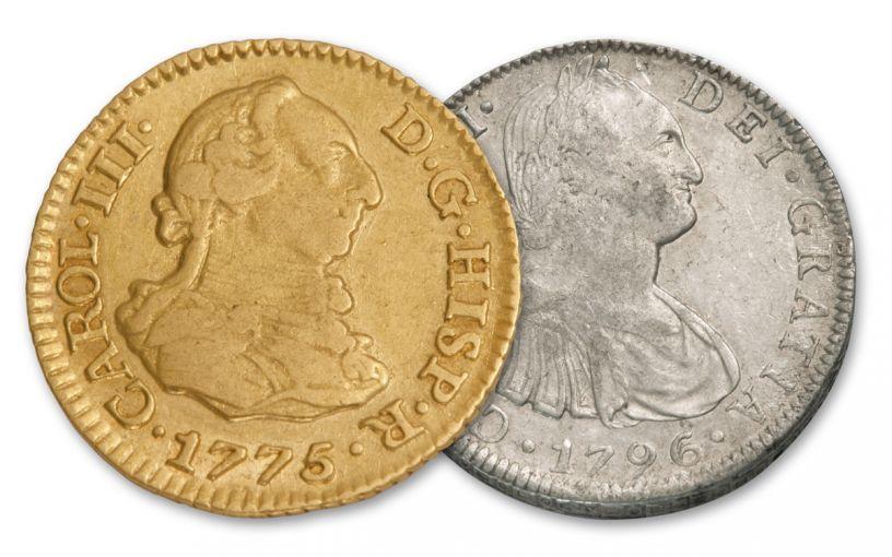 SPAIN 1732-1797 8 REALES-1/2 ESCUDO AM1ST FINE-VF