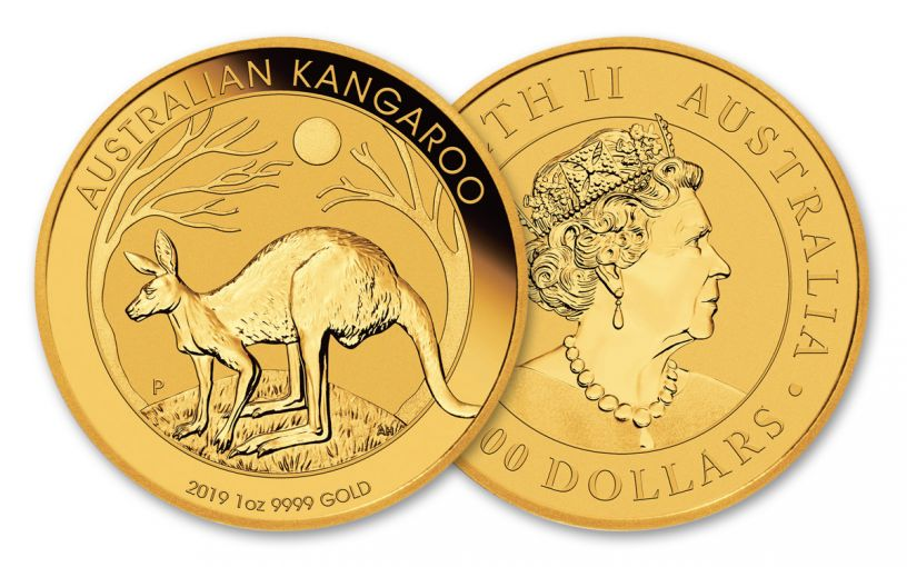 2019 Australia $100 1-oz Gold Kangaroo BU