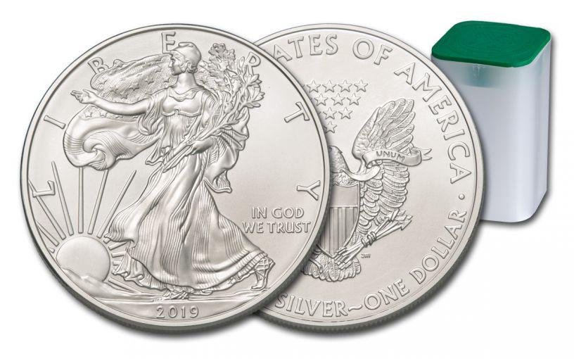 2019 $1 1-oz Silver American Eagle BU 20-Piece Roll