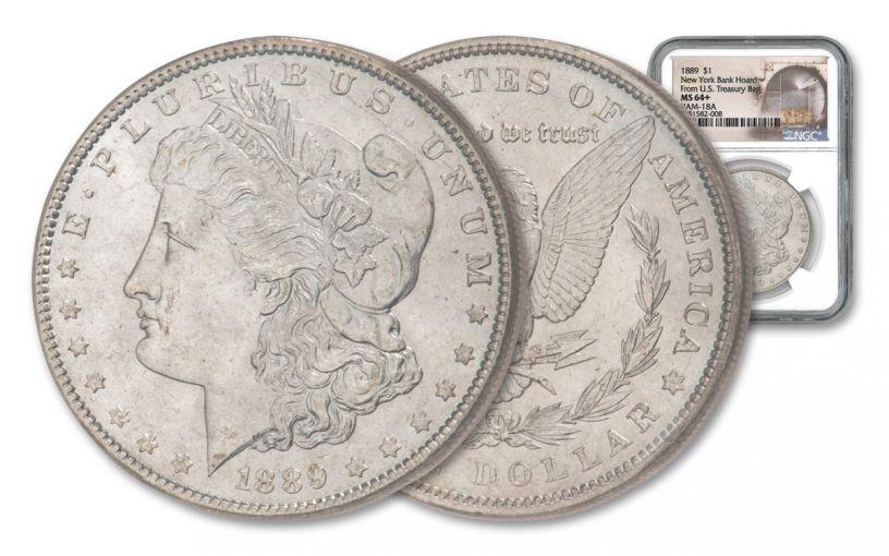 1889 Morgan Silver Dollar VAM 18A New York Bank Hoard NGC MS64+