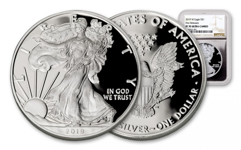 2019-W $1 1-oz Silver American Eagle NGC PF70UC First Releases - Silver Core