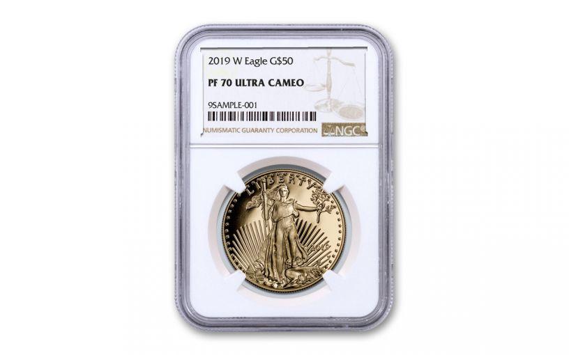 2019-W $50 1-oz Gold American Eagle NGC PF70UC
