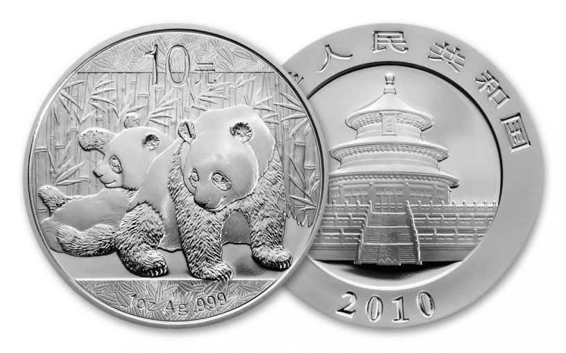 2010 China 1-oz Silver Panda BU