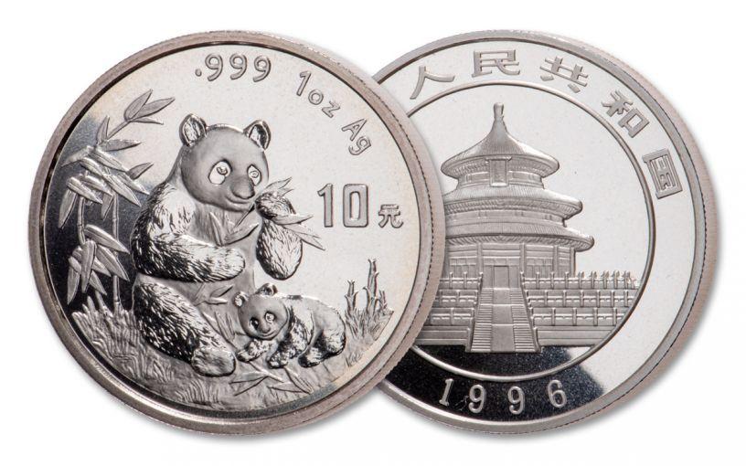 1996 China 1-oz Silver Panda BU