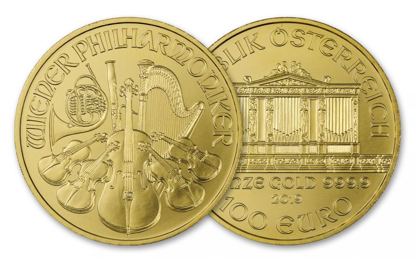 2019 Austria 1-oz Gold Philharmonic BU