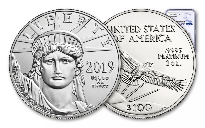 2019 $100 1-oz Platinum American Eagle NGC MS70 First Releases
