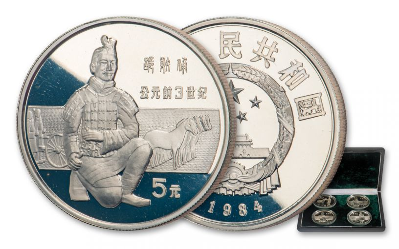 1984 China Historical Figures 4-pc Silver Proof Set