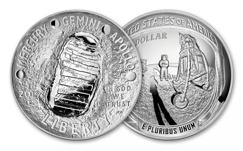 2019-P Apollo 11 50th Anniversary 5-oz Silver Dollar Proof
