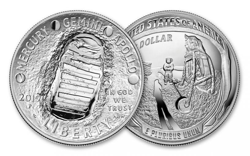 2019-P Apollo 11 50th Anniversary Silver Dollar Proof