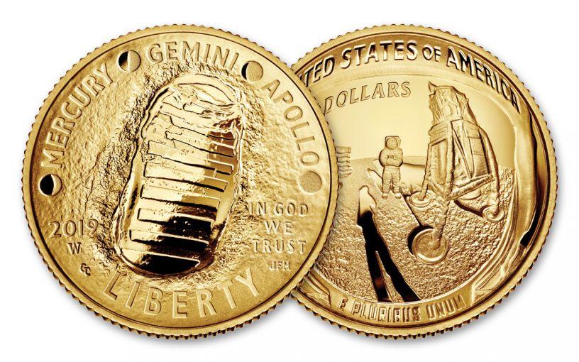 2019-W $5 Gold Apollo 11 50th Anniversary Proof