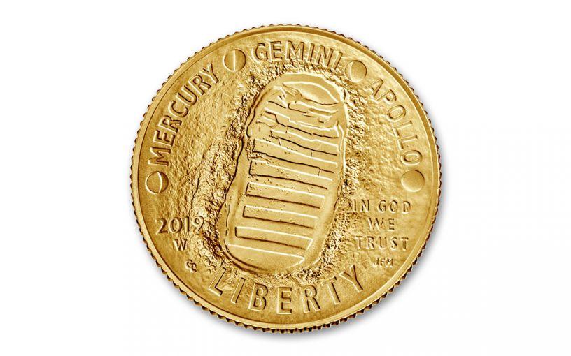 2019-W Apollo 11 50th Anniversary $5 Gold BU