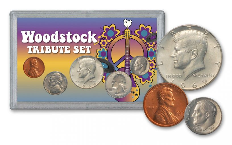 1969 Woodstock 50th Anniversary Tribute Set 5-Piece BU