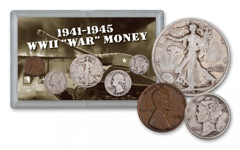 1941-1945 United States World War II 5-Piece Tribute Set