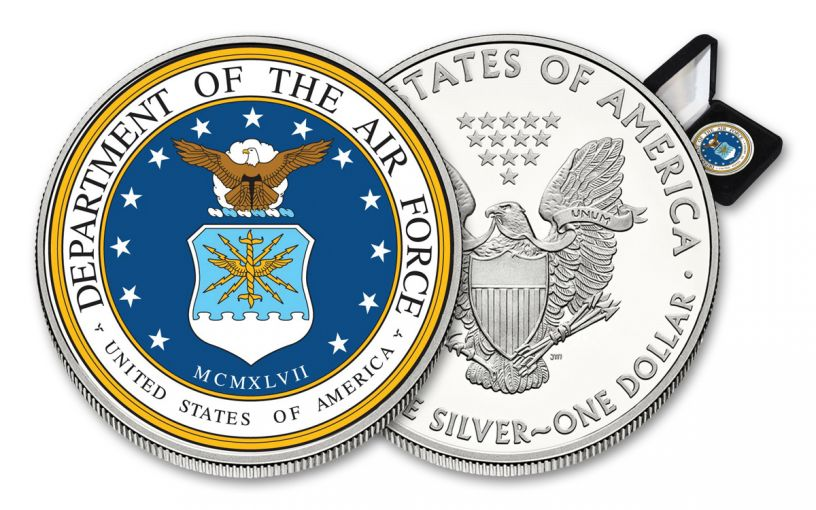 U.S. Armed Forces Air Force $1 1-oz Silver American Eagle Colorized Commemorative BU
