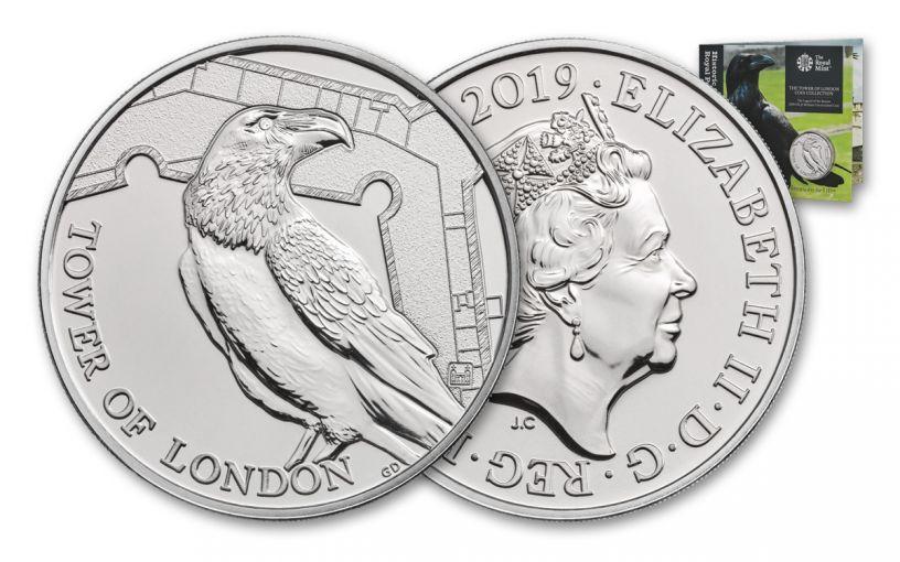 2019 Great Britain £5 Cupro-Nickel Tower of London Ravens BU