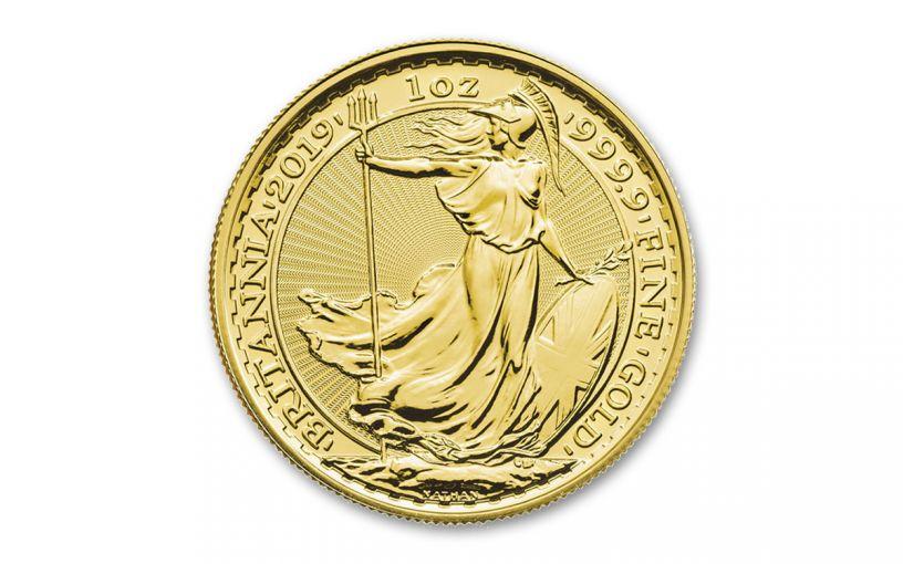 2019 Great Britain £100 1-oz Gold Oriental Britannia BU