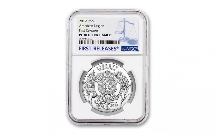 2019-P Silver Dollar American Legion 100th Anniversary Commemorative NGC PF70UC First Releases