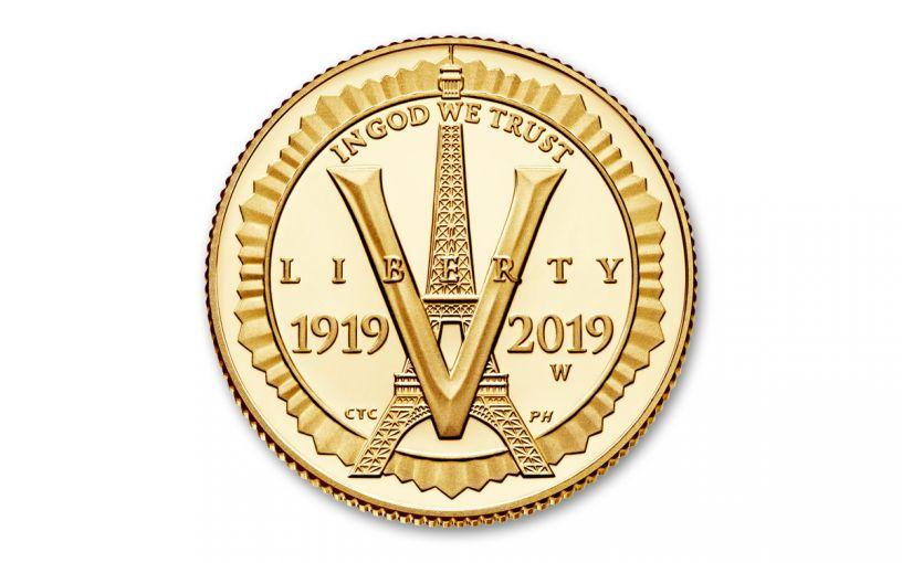 2019-W $5 Gold American Legion 100th Anniversary Commemorative Proof