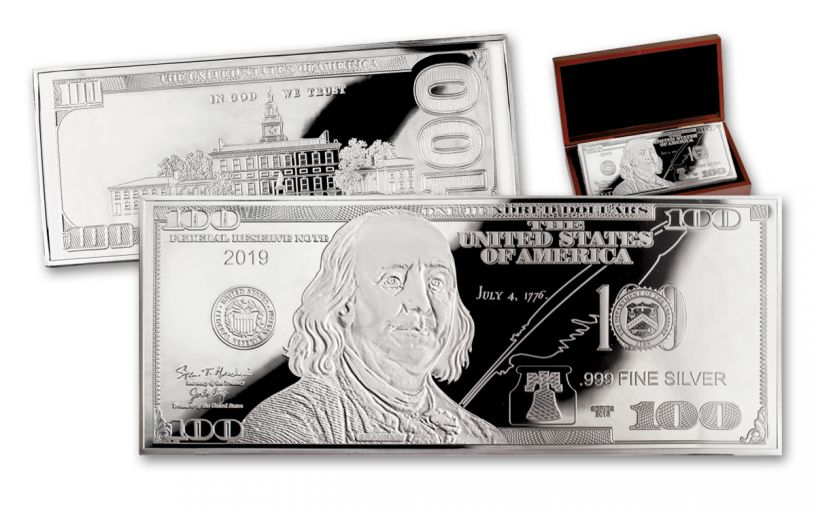 2019 100 Dollar 4-oz Silver Currency Proof