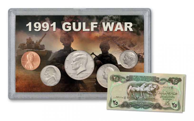 1991 Gulf War Coin and Currency Set