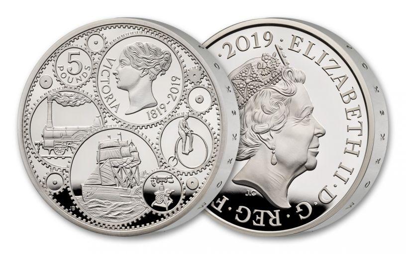 2019 Great Britain £5 Silver Queen Victoria 200th Anniversary Proof