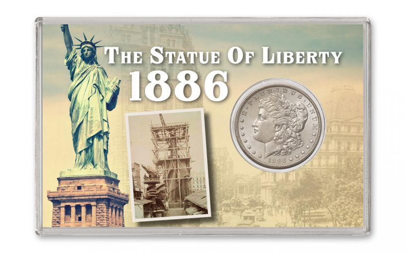 1886-P $1 Statue of Liberty Morgan Silver Dollar BU